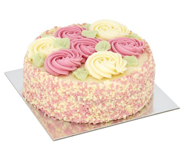 TESCO rose cake