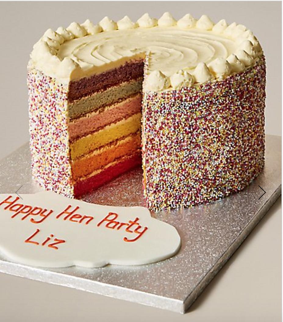 M&S rainbow cake