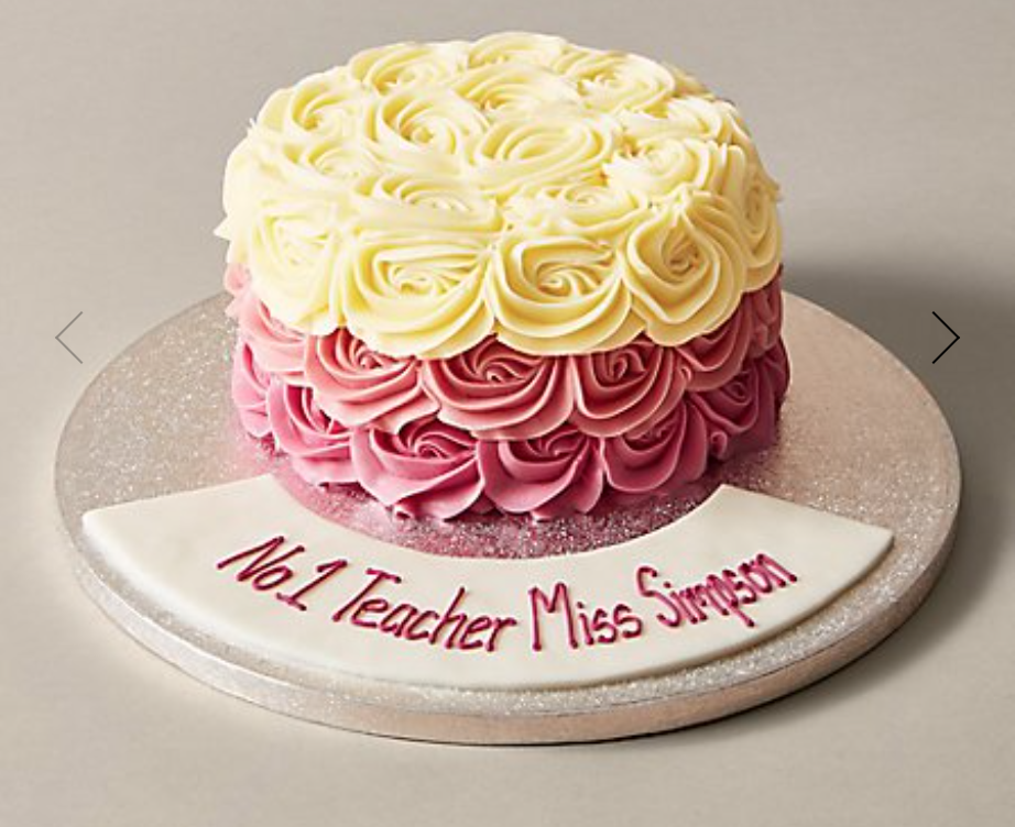 M&S pink and cream rose cake