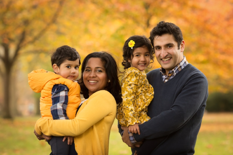 family portrait - autumn yellows