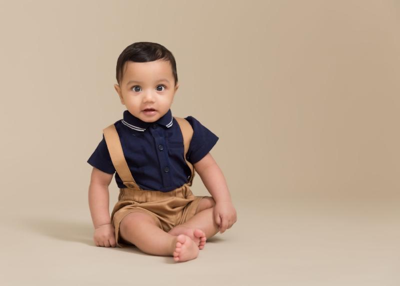 sitter boy portrait