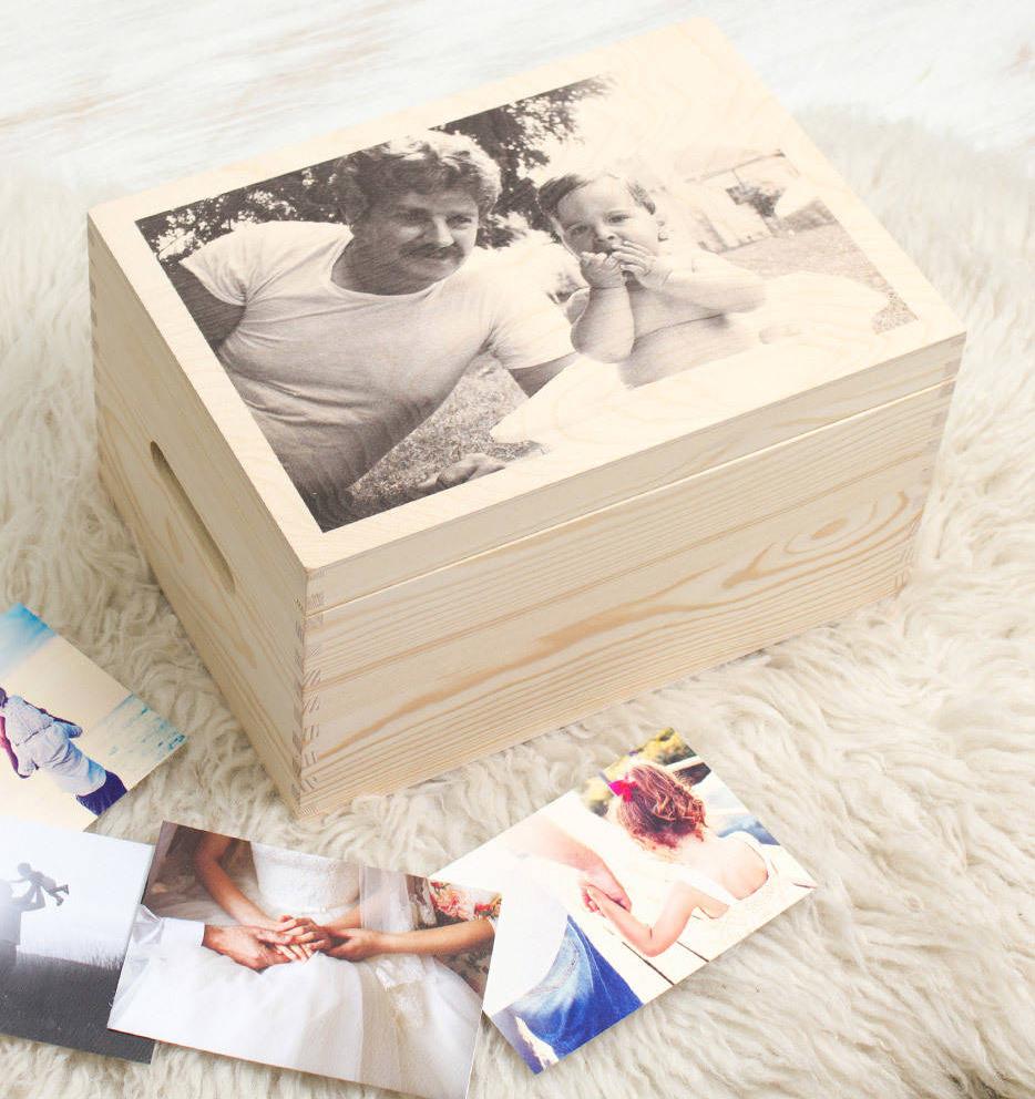 personalised photo memory box