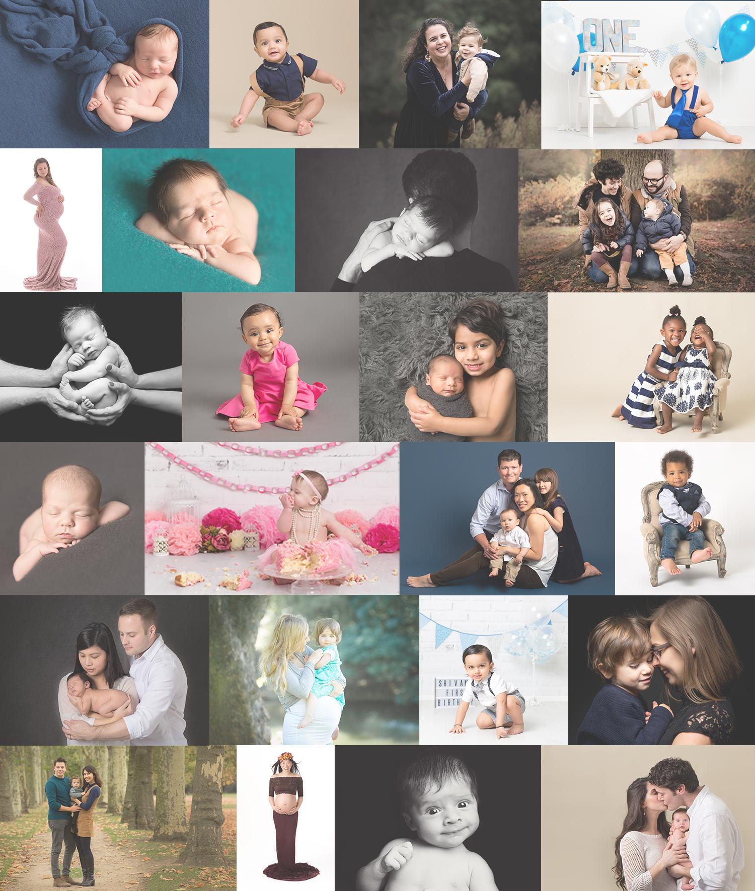 East london baby photographer collage jpg