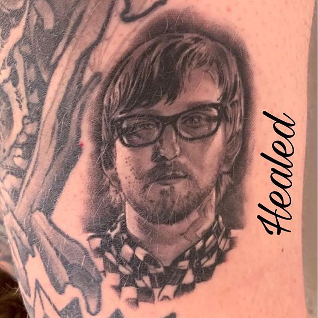 This healed and hairy @tifferwright portrait was made by @djtambe on @alex_hall. Healed with #SecondSkin • #secondskintac #healedtattoo #healedandhairy #portraittattoo #djtambe