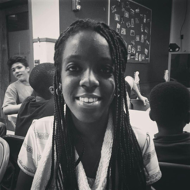 This is Domingas. She's an honors student from Angola and has a story to tell.  Thanks for sharing @etepler, #fromawaythefilm #refugees #maine