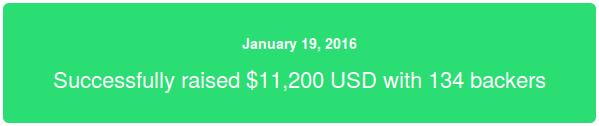 kickstarter succesful!