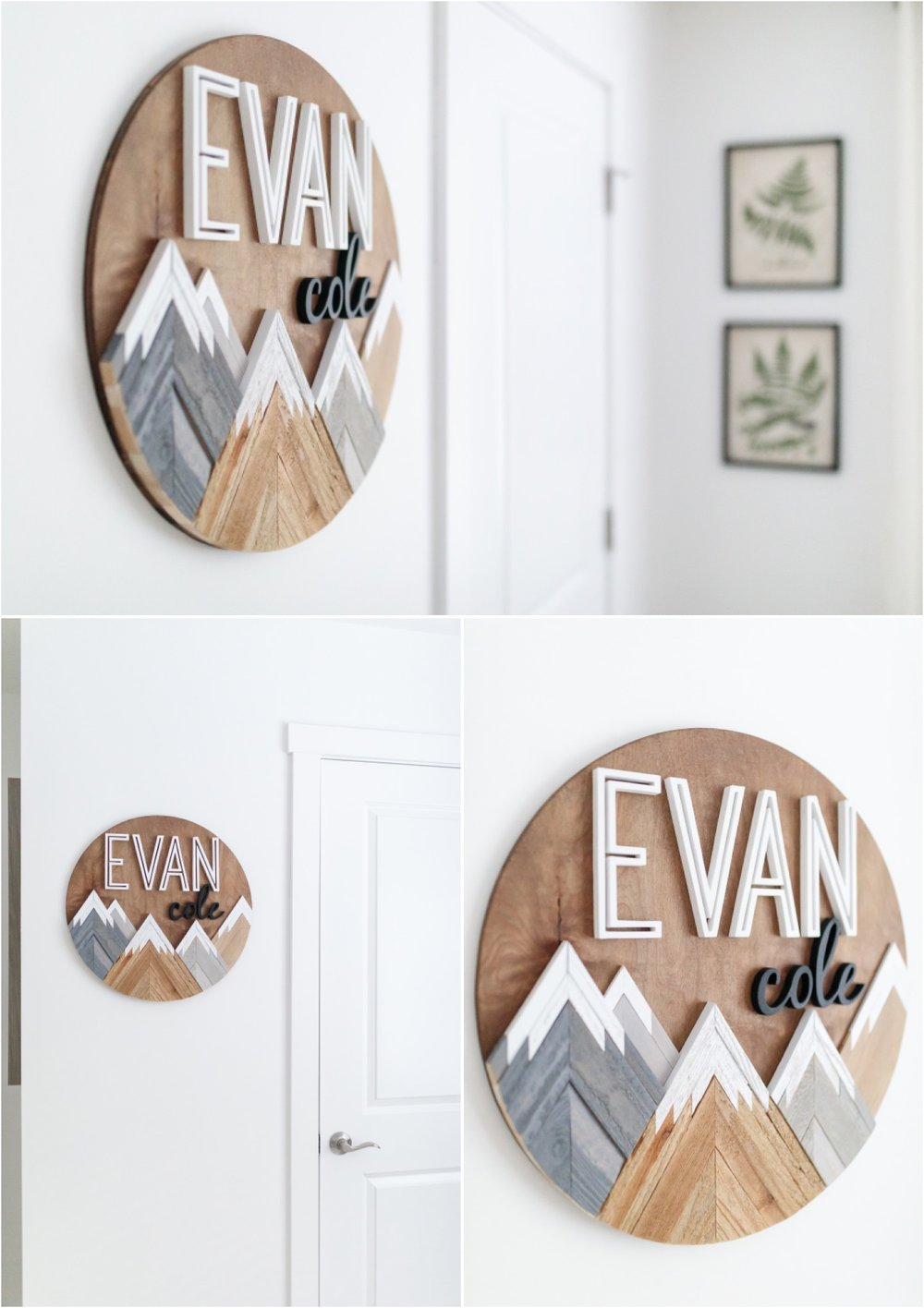 WOOD NAME SIGN: Etsy - Creating Happyness