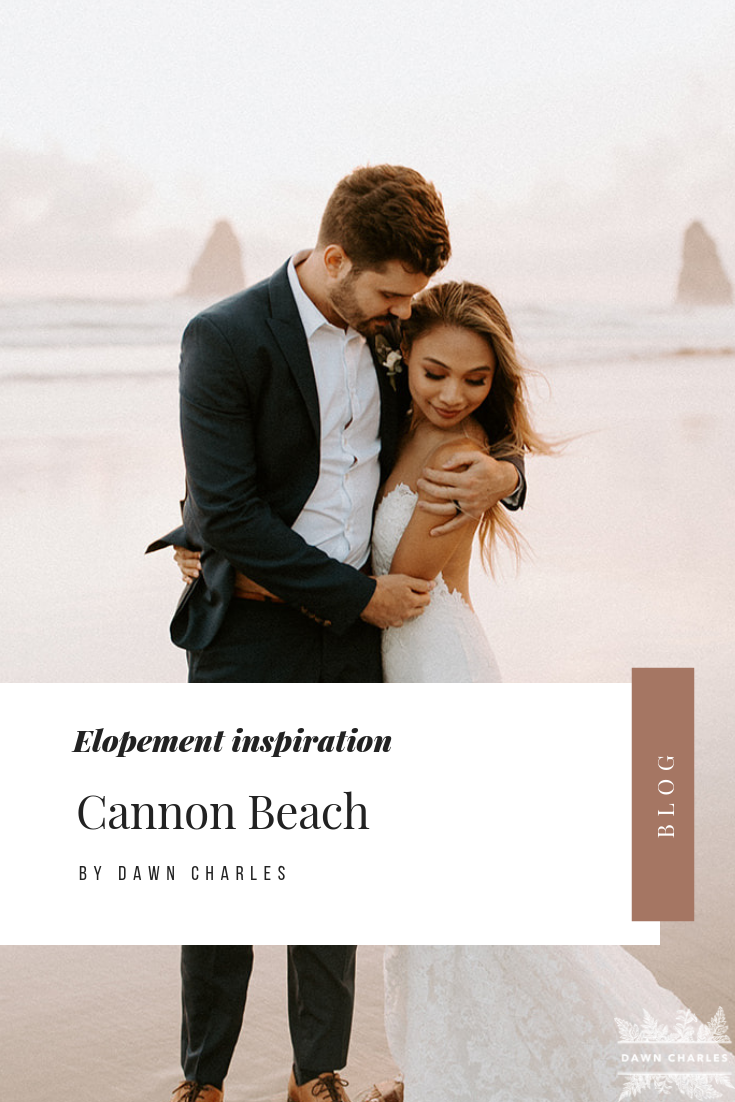 Click to browse the blog of this Cannon Beach Elopement by Dawn Charles Photography