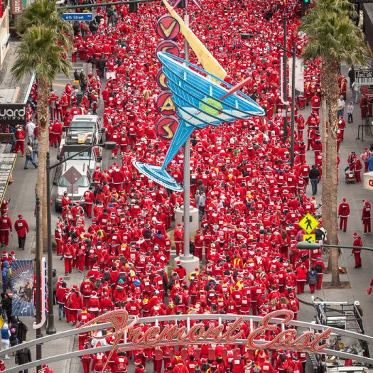 Las Vegas Great Santa Run. Photo: Opportunity Village. Found on Shape.com.