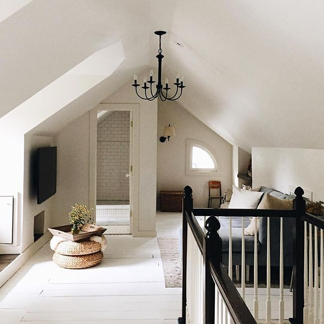 Looking for more square footage? Consider converting your attic. Totally transformational!! . . . . #home #Renovation #attic #white #classic #homedesign #convertedattic #interiordesign #chandelier #cozy #whitefloors #MainLine #philadelphia #realestate #realtor #kellerwilliams