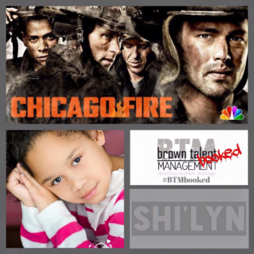 Congratulations Shi'lyn for your appearance on the Hit TV show Chicago Fire!