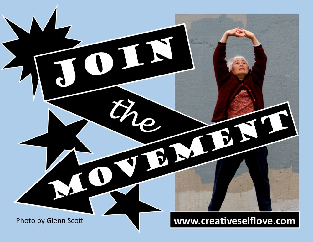 "Join the Movement – Graphics by author; ""Stretch"" photo by Glenn Scott,"