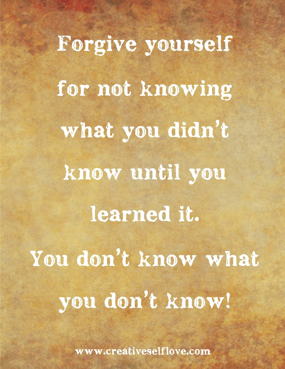 Forgive Yourself for Not Knowing – Graphics by author; background: