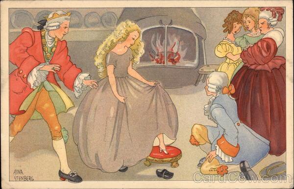 Cinderella – Art by Aina Stenberg, 1930, public domain