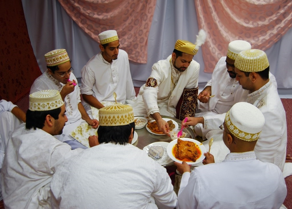 Muslim Men – The Grooms' Men Eat, Kurt Collins, Flickr