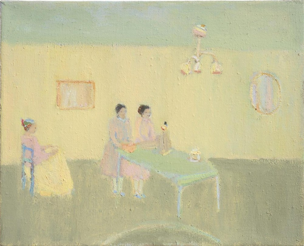 Nancy, Cathy, Mary, 2014, Oil on linen, 20 x 25cm