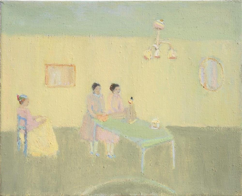 Nancy, Cathy, Mary, 2014, Oil on linen, 20 x 25cm