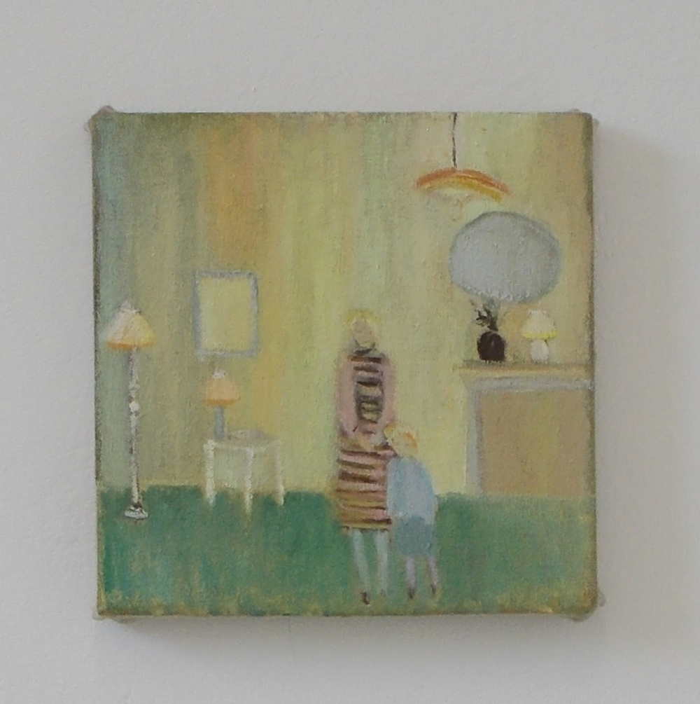 Front room waiting, oil on linen, 20 x 20 cm, 2012