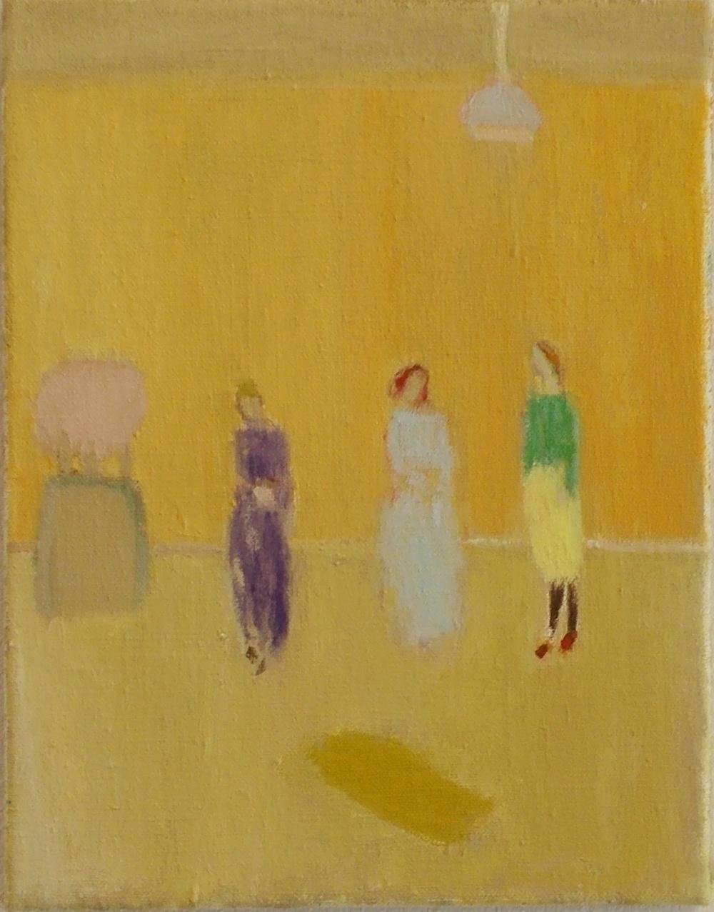 Nancy's room, Oil on linen, 25 x 20 cm, 2012