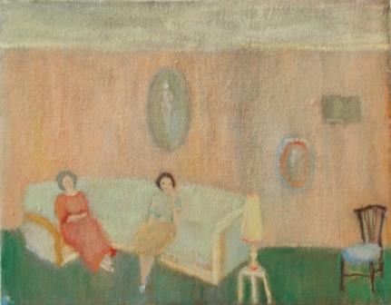 Nancy and Hannah, oil on linen, 15 x 20 cm, 2013