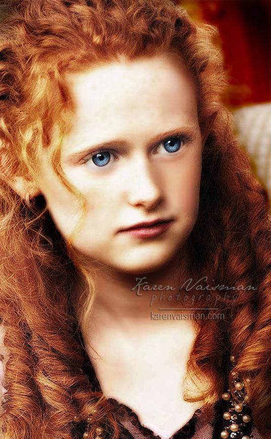 Redhead Romantic Child's Portrait