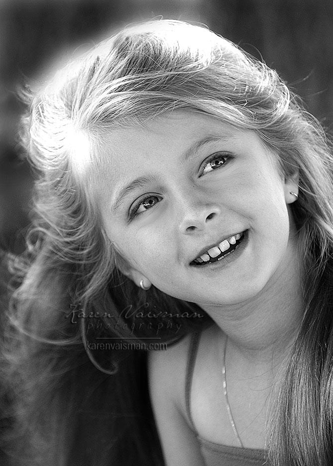 Want a Darling Black and White Children's Photo?  (818) 991-7787 - Karen Vaisman Photography