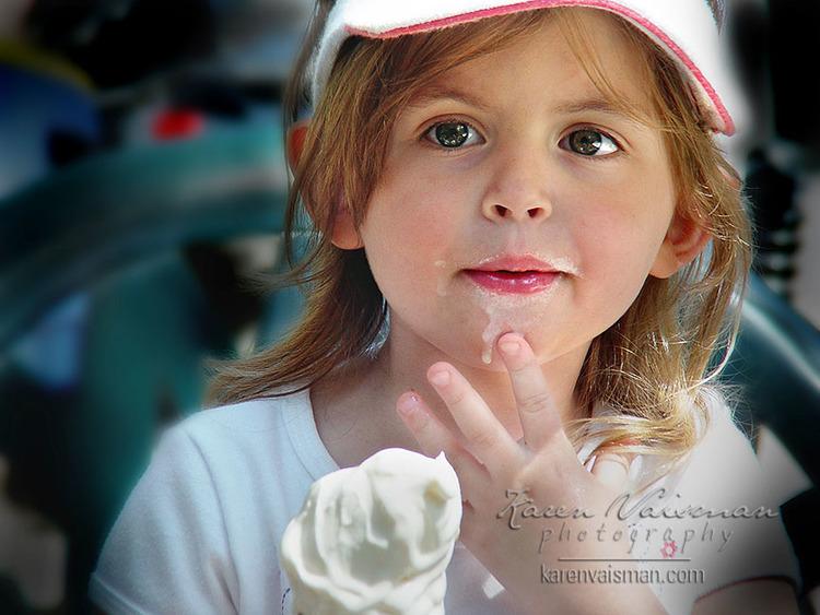 Ice Cream & Children Just Go Together! - Westlake Village (818) 991-7787 - Karen Vaisman Photography