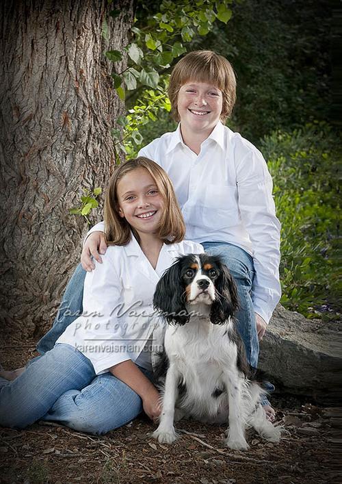 Kids & Dogs Just Go Together! (818) 991-7787 - Capture it with Karen Vaisman Photography - Agoura HIlls