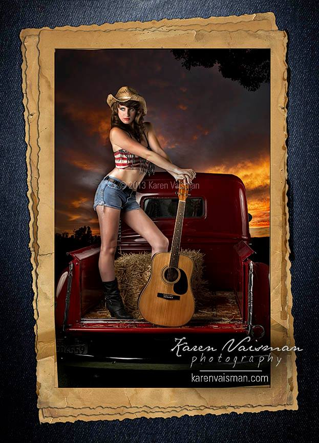 Heee Hawwww!! - Guitars...Cadillacs...(Oops or is that a Ford?)  High School Senior Photography with Karen Vaisman (818) 991-7787 - Thousand Oaks