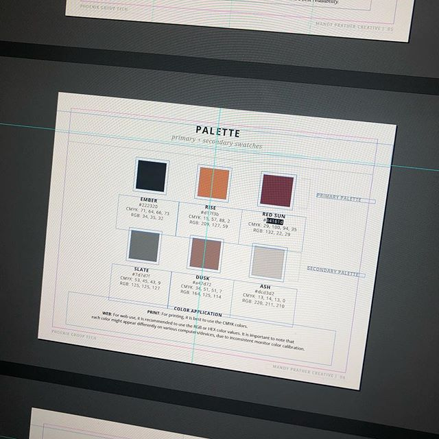 Toddler nap time means I can wrap up this branding overview and spend the rest of the weekend relaxing! #memorialday #branding #indesign #selftaughtdesigner