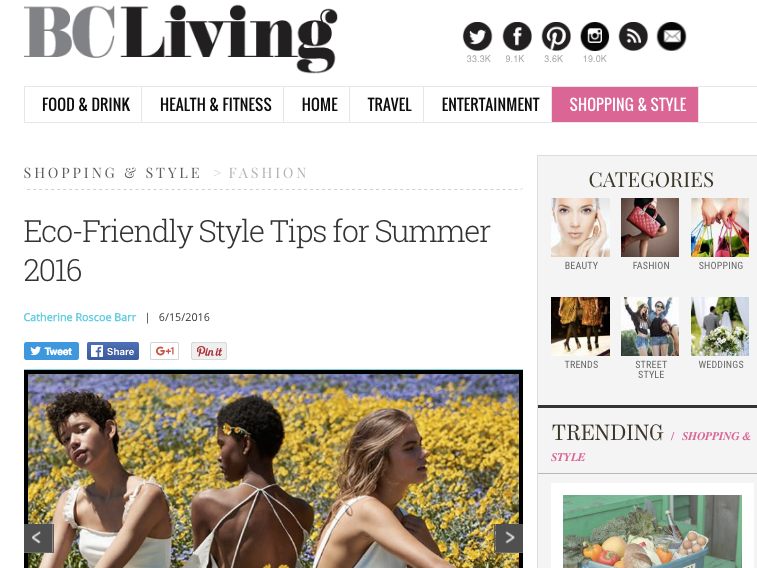 june. 2016 Eco-Friendly style tips for summer 2016 BC Living
