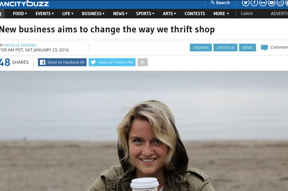 jan. 2016 New business aims to change the way we thrift shop Van City Buzz