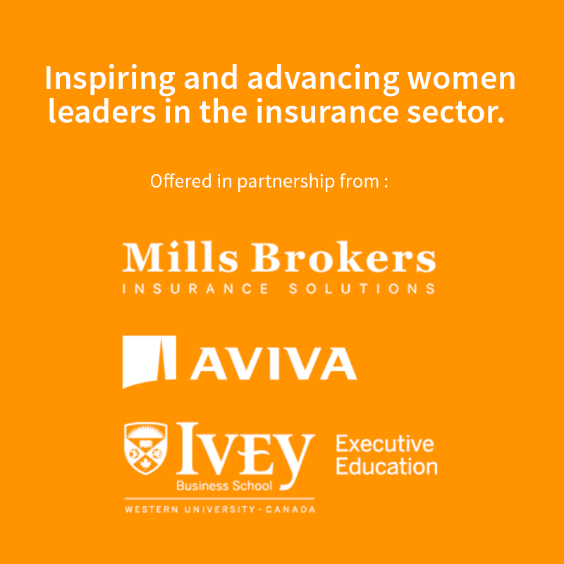 Introducing the Women Creating Legacy in Insurance Scholarship Fund - Sept 2017 — As a tribute to Christie Mills' legacy we have partnered with Aviva Canada and the Ivey Business School to offer the Women Creating Legacy in Insurance Scholarship Fund. Nominations and applications are now being accepted — learn more about this unique program.