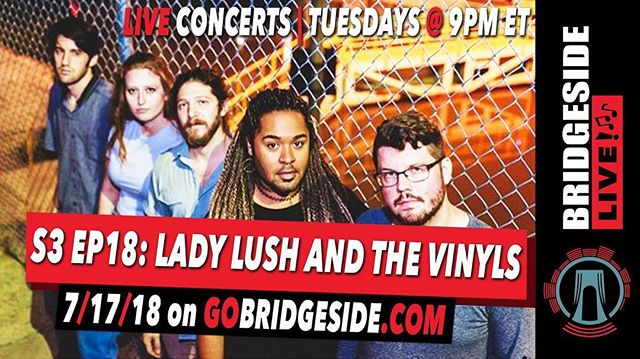 Hiee 🤓 Hope everyone had a beautiful day off with y'all cakes out yesterday 🎂 ☀️ . . . N E ⚔️ T  U P  Thanks to @gobridgeside you can check out one of our #lushlivesessions from home! They'll be live streaming one of our jams on July 17th!  Come throughhhh(your computer screen ) 🤟🏽