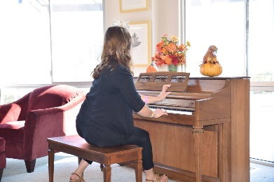 Performing my piano piece for the Ronald McDonald House in Madera, CA.