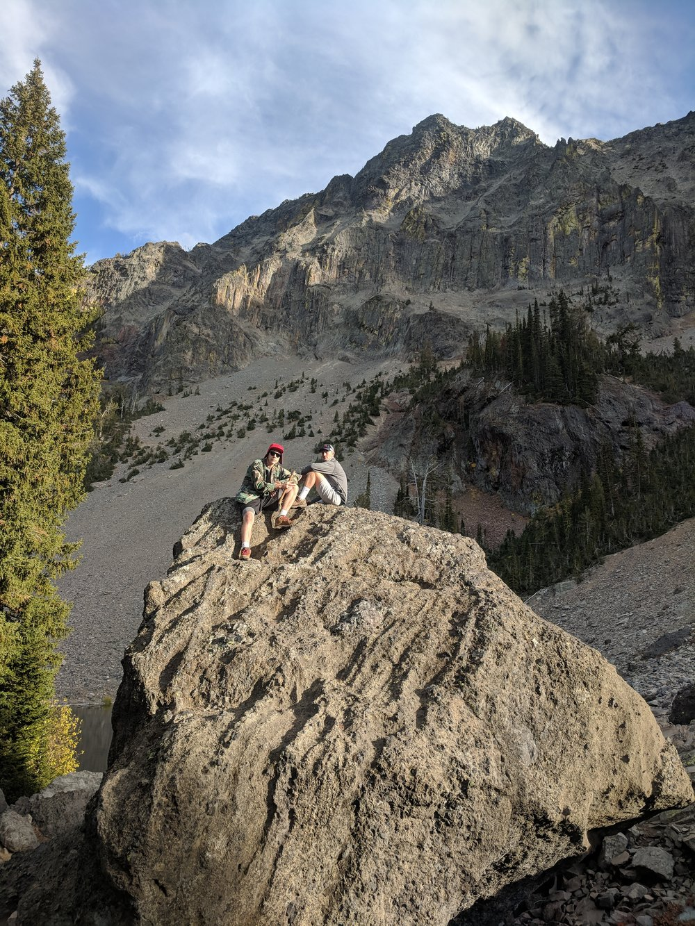 Chad and Will on top of the big rock
