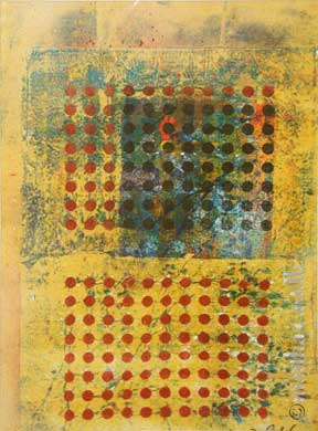 "17. Red Dots    (matted, unframed) 18""x13"" $345"