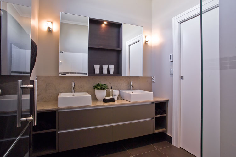 Modern bathroom design for two