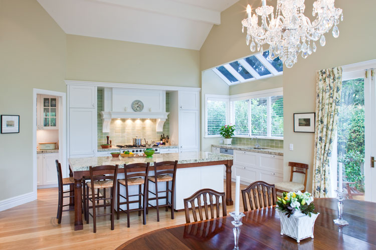 Epsom traditional kitchen and living space