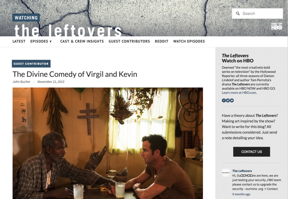 Click   here   to read The Divine Comedy of Virgil and Kevin...