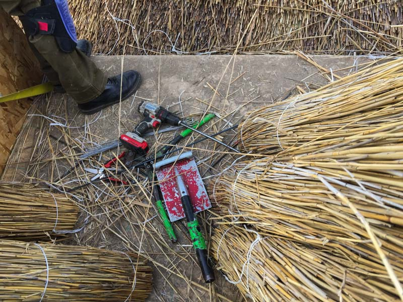 The tools of a roof thatcher