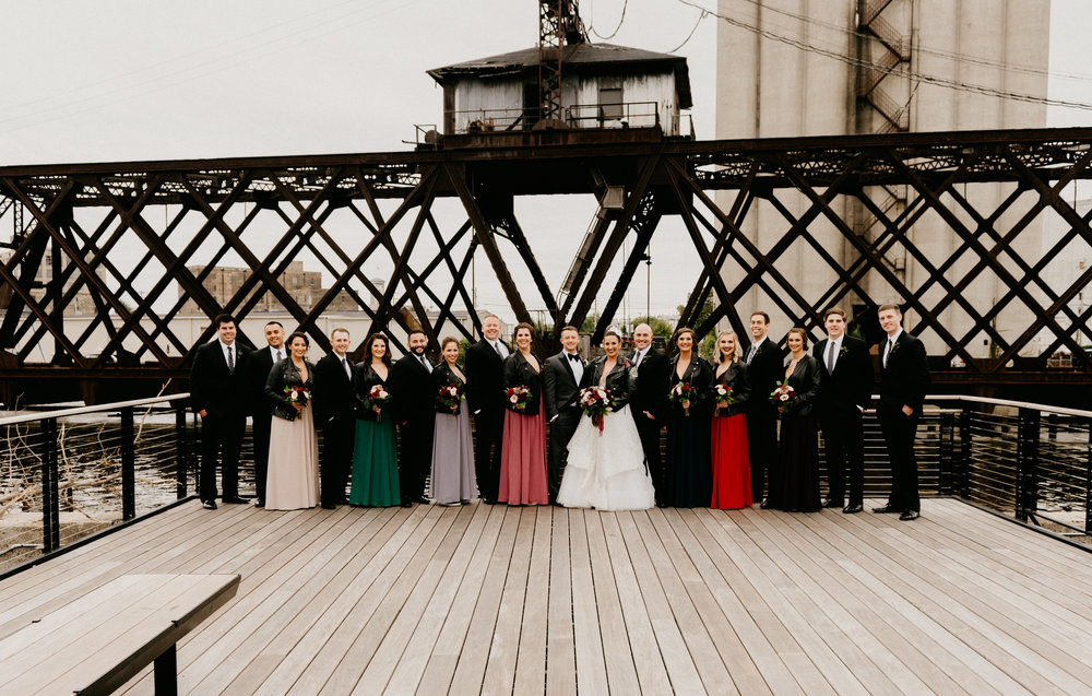Milwaukee Wedding Bridal Party Studio 29 Photography