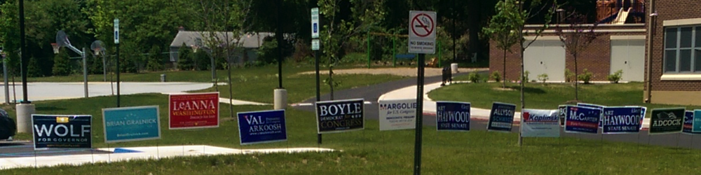 Primary Day Campaign Yard Signs in Pennsylvania's 13th District -- May 21, 2015