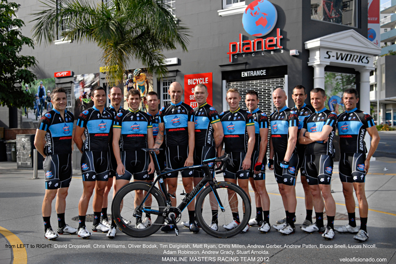 2012 Mainline masters cycling team Brisbane Australia