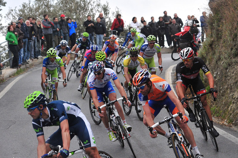 Milan San Remo, Gerrans and Cancellara on the descent
