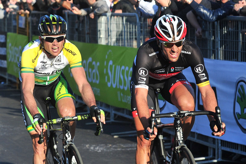 Cancellara takes Gerrans to the line