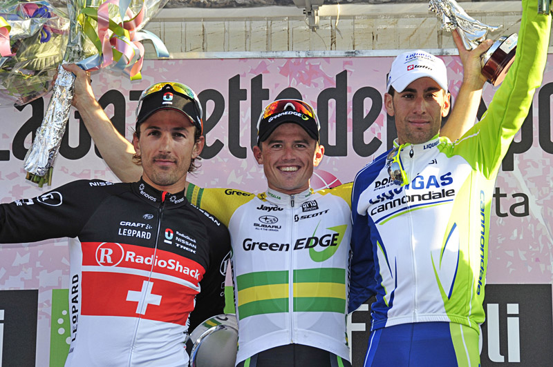 Cancellara, Gerrans and Nibali