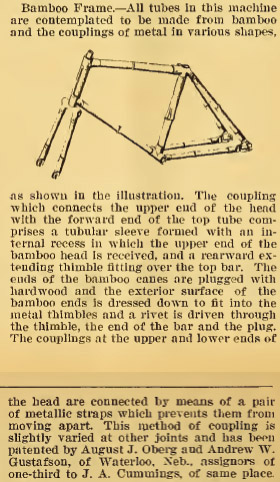 1896 Bamboo bicycle