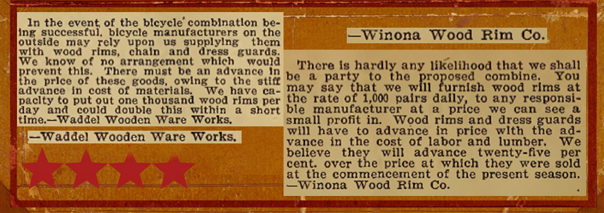 Winona wood rim bicycle company