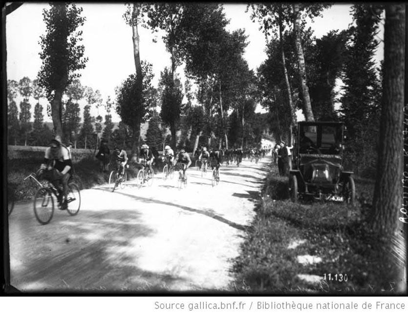 7-8-1910, Champigny, départ du Tour de France amateur